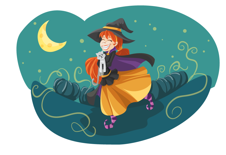 Two Witches And Magic Brew Pot, Vector Illustration. Royalty Free Cliparts,  Vectors, And Stock Illustration. Image 91332769.