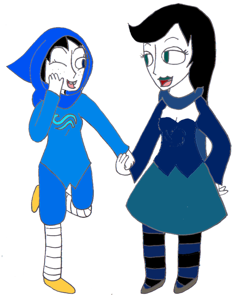 Maid of breath and. Witch clipart two