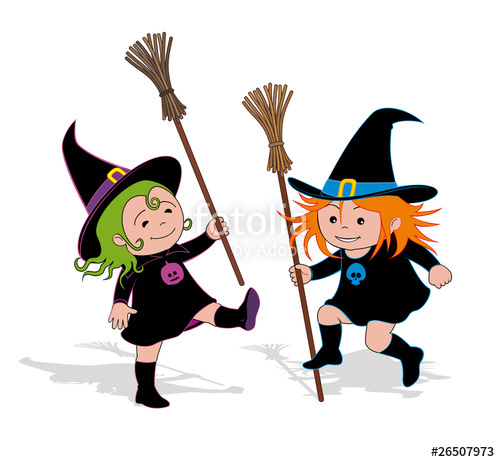 Witch clipart two. Dance of little witches