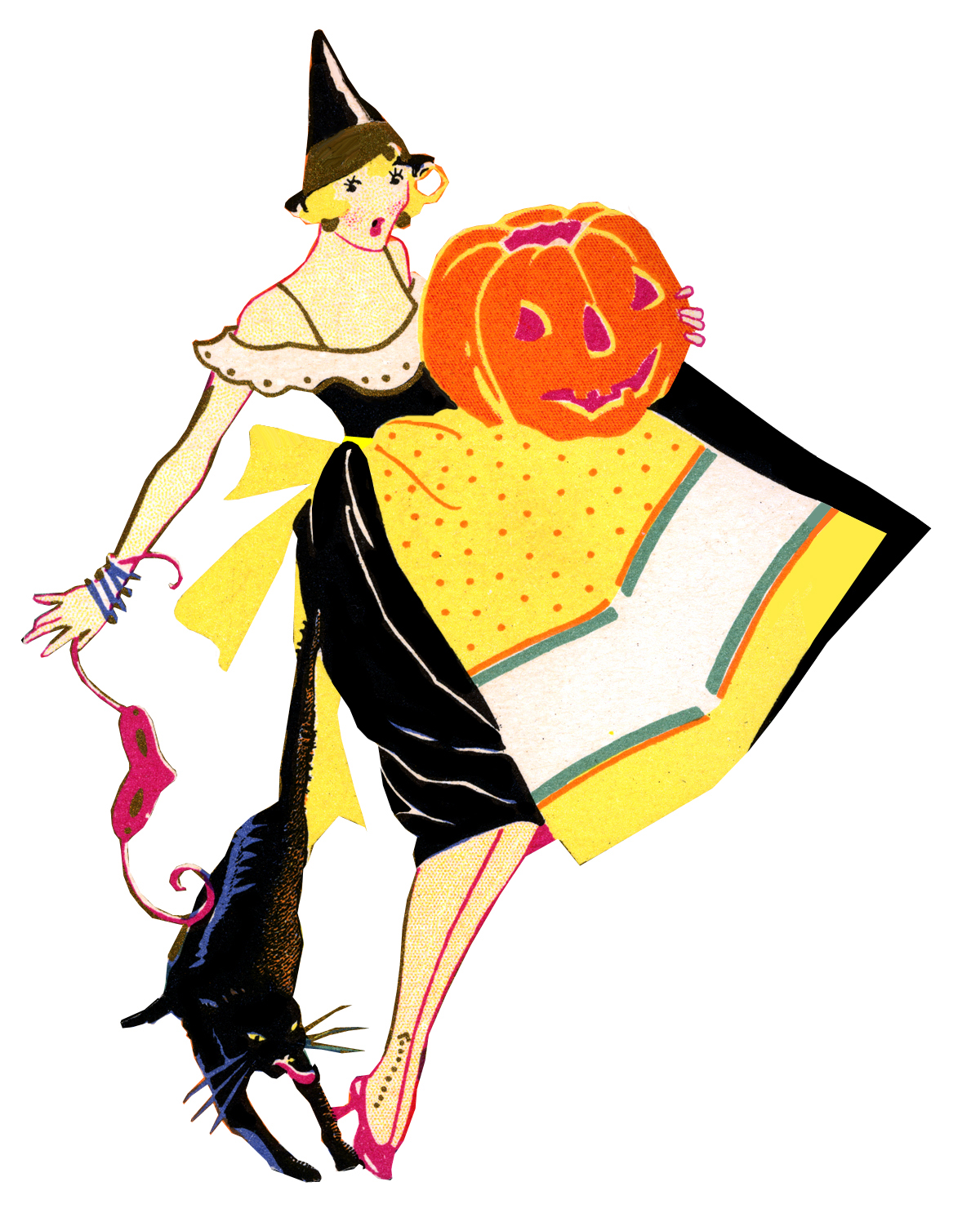 Witch clipart vintage. Free cliparts download clip