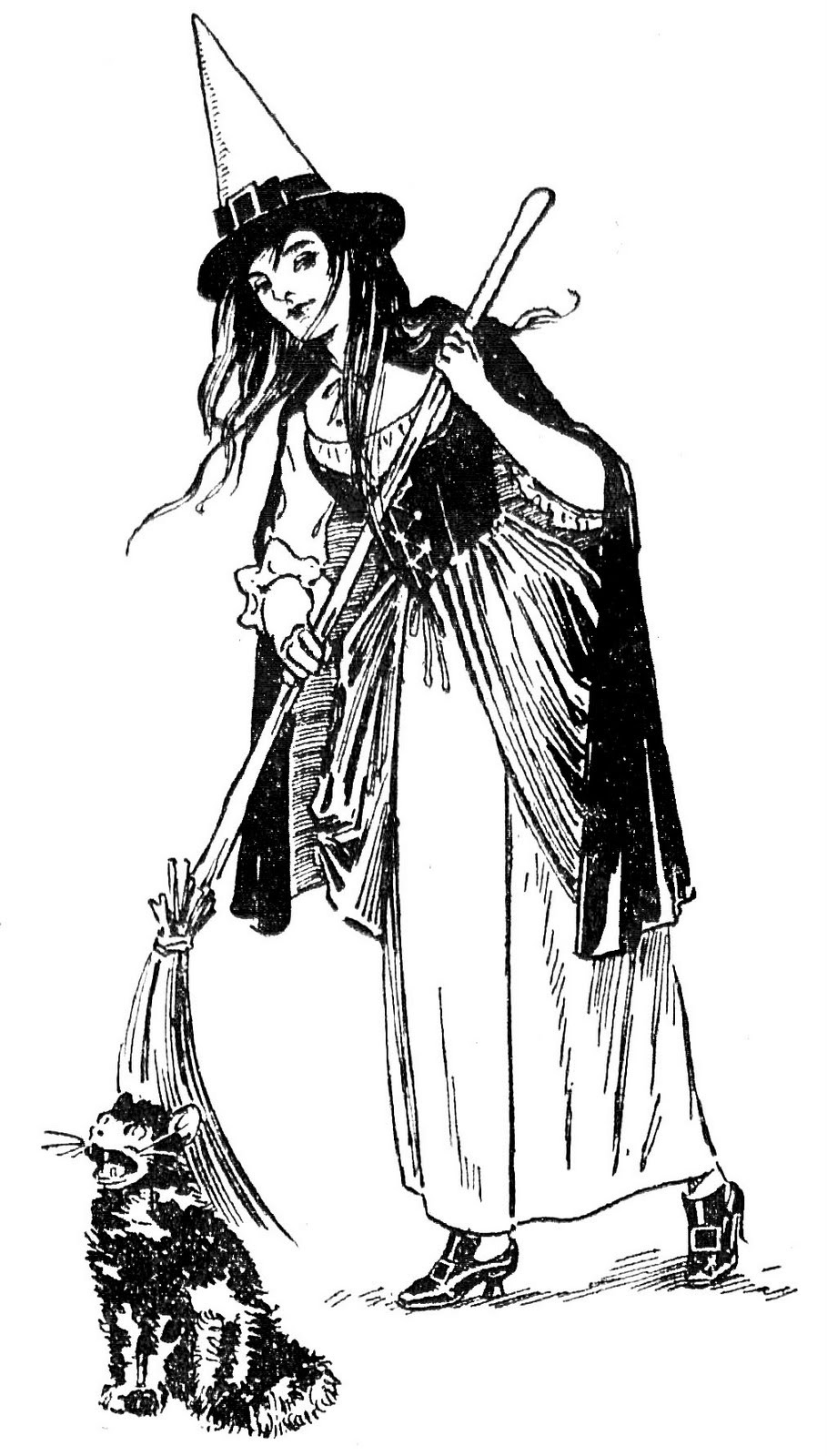 pretty the graphics. Witch clipart vintage
