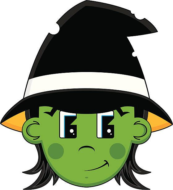 Witch clipart witch head. Halloween in