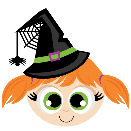 Svg scrapbook cut file. Witch clipart witch head