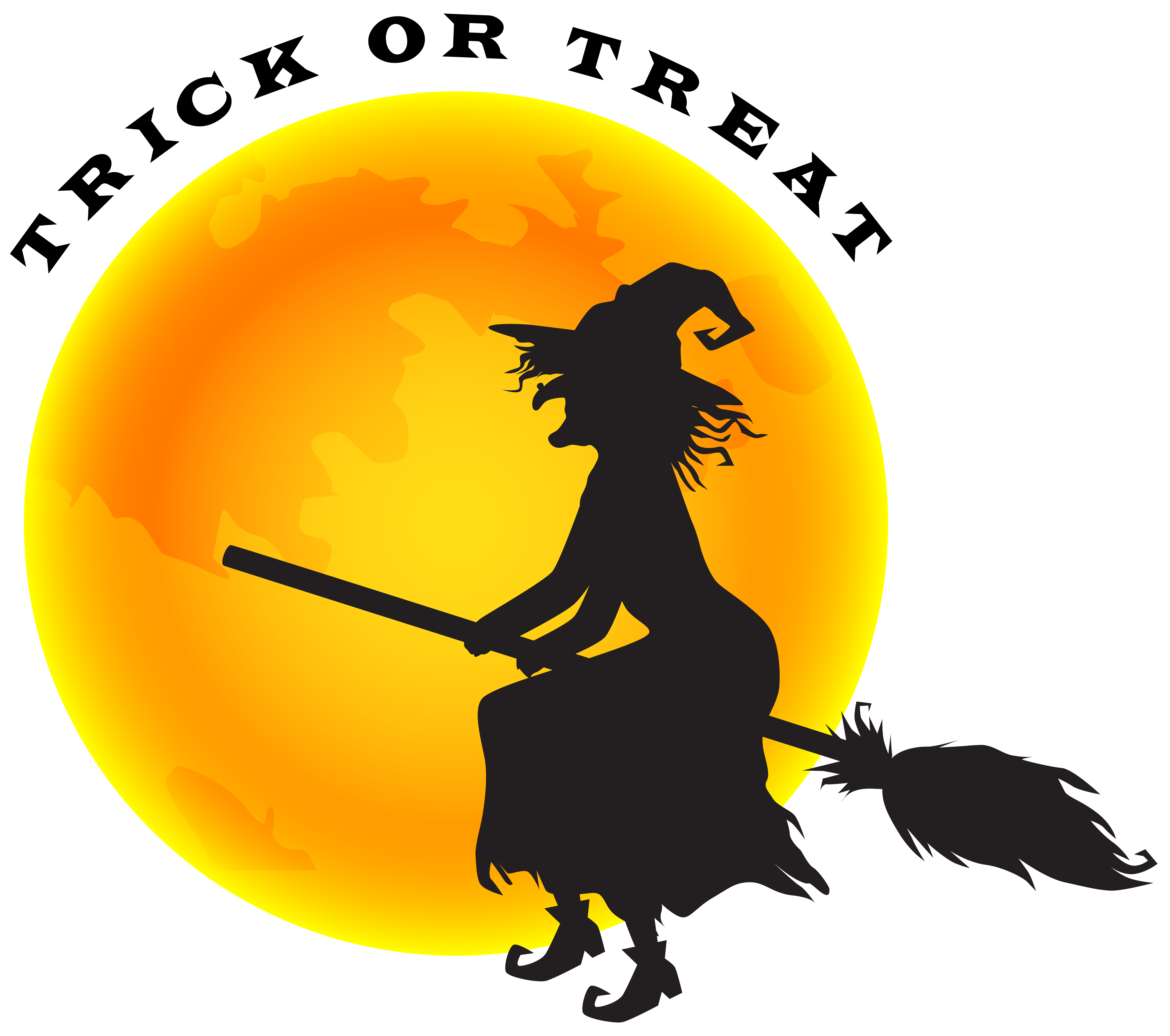 Halloween and png clip. Witch clipart witch moon