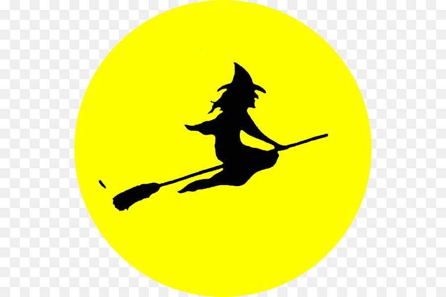 Witch clipart witch moon. Leaf circle transparent clip