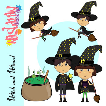 Witch clipart wizards. And wizard kids halloween
