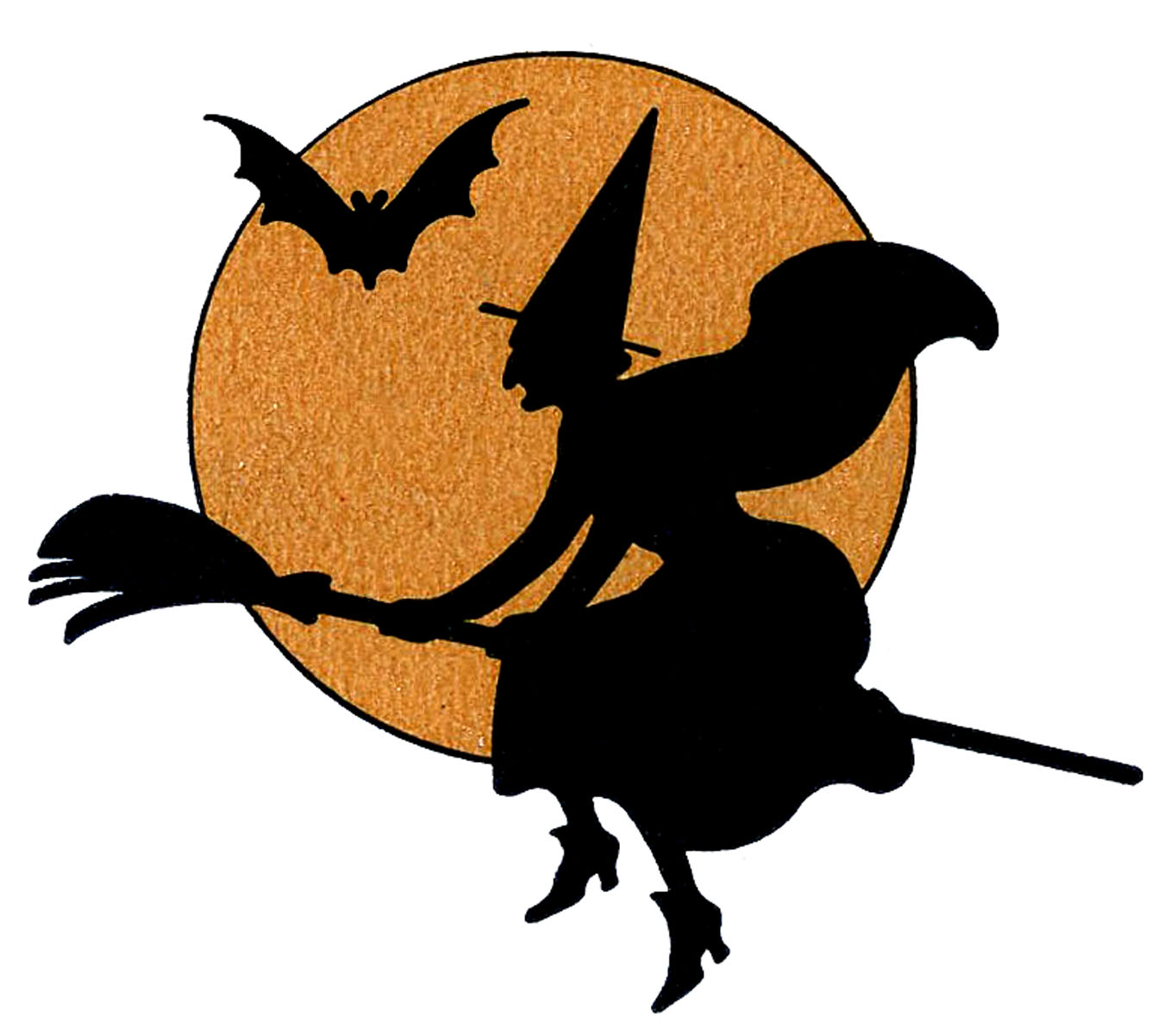 Witches clipart. Vintage halloween clip art