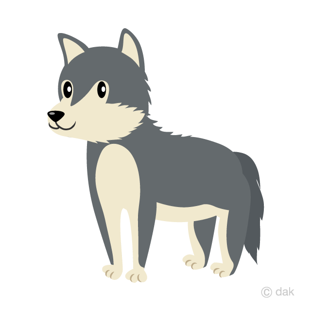 Wolves clipart cute. Wolf free picture illustoon