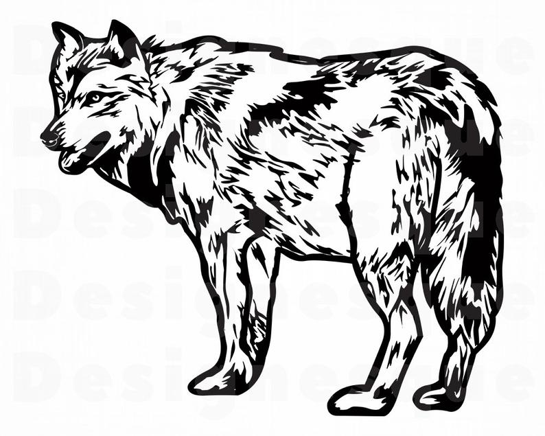 Wolf clipart. Svg forest animals files