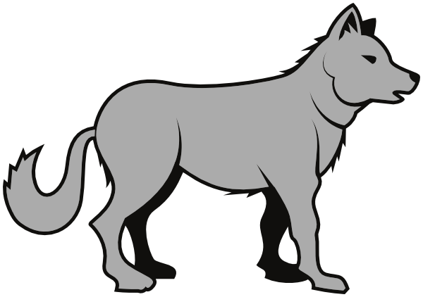 Wolves clipart gray wolf. Clipartix