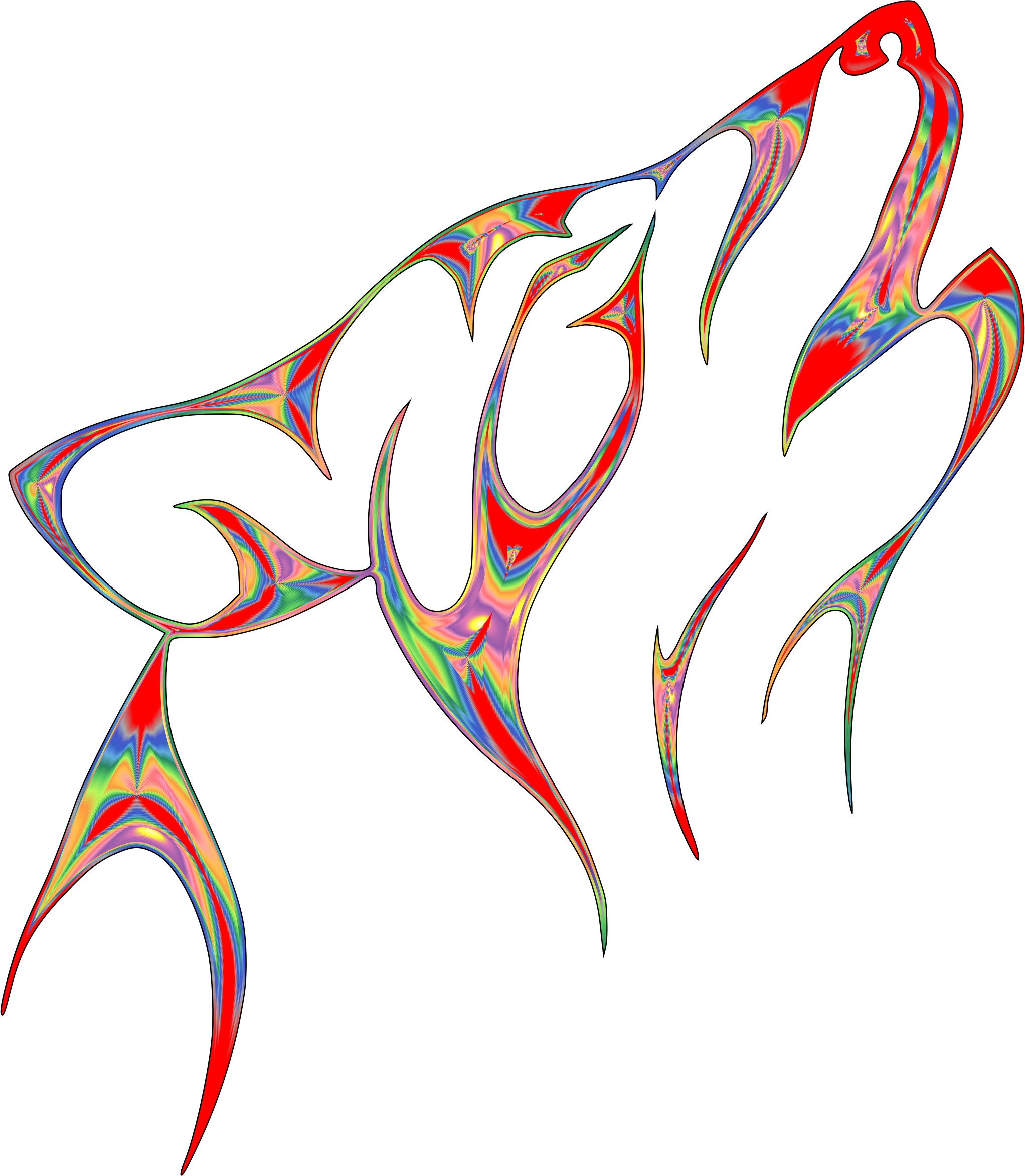 Wolf clipart abstract. S tribal no background