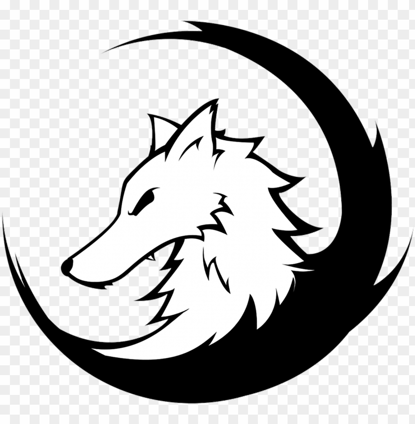 Head logo png image. Wolf clipart alpha