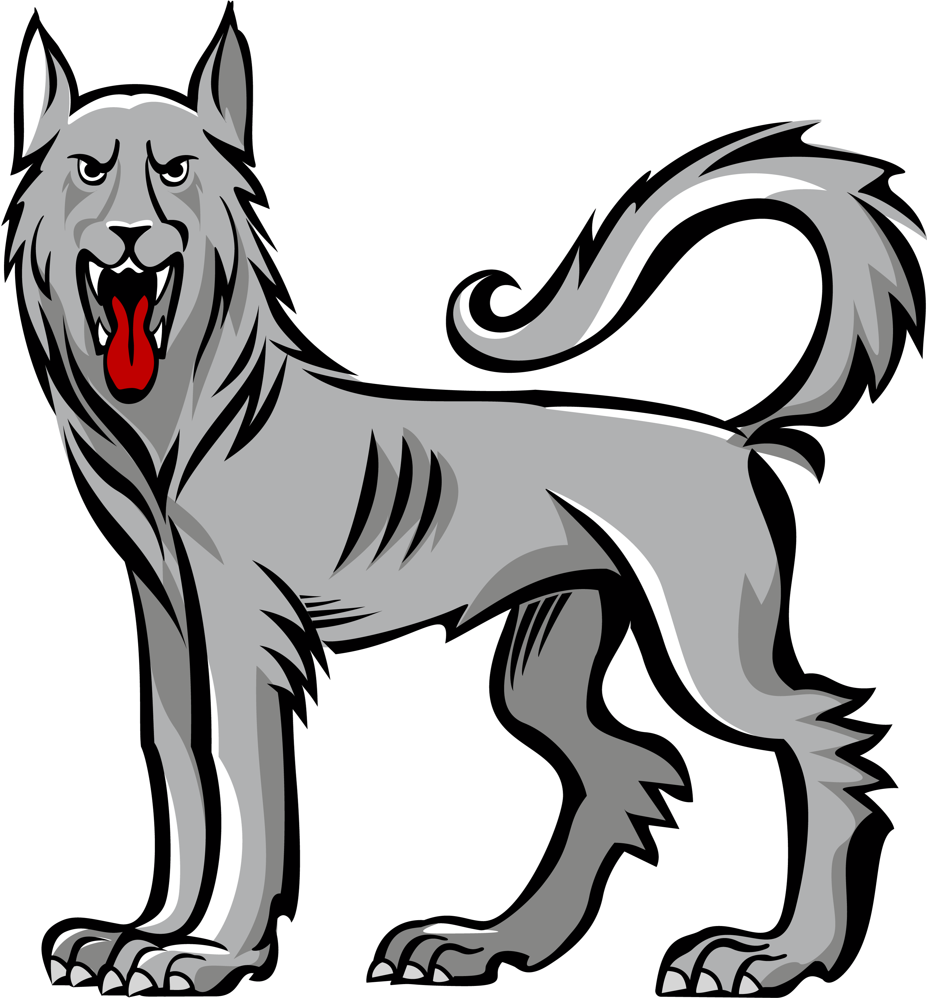 Wolf statant guardant inspiration. Wolves clipart badass