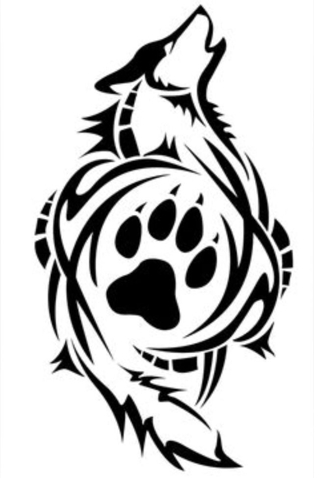 Paw free download best. Wolf clipart badass