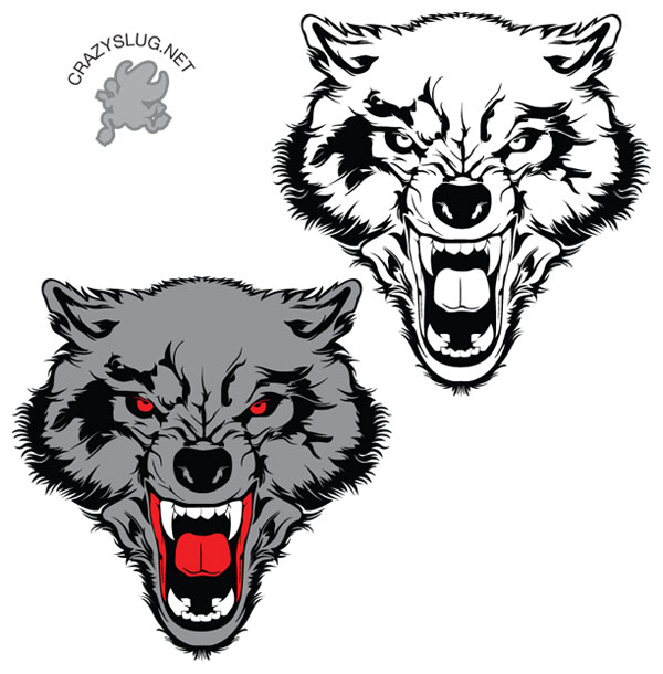 Wolf clipart badass. Free vector art download