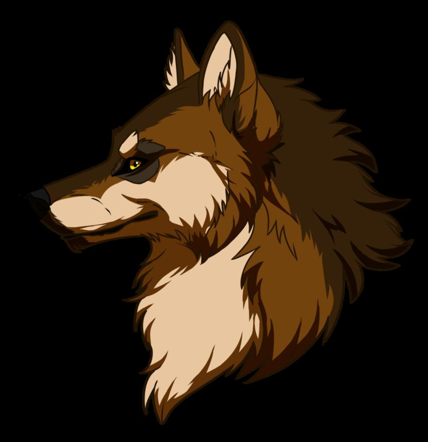 Wyatt form head by. Wolf clipart bear