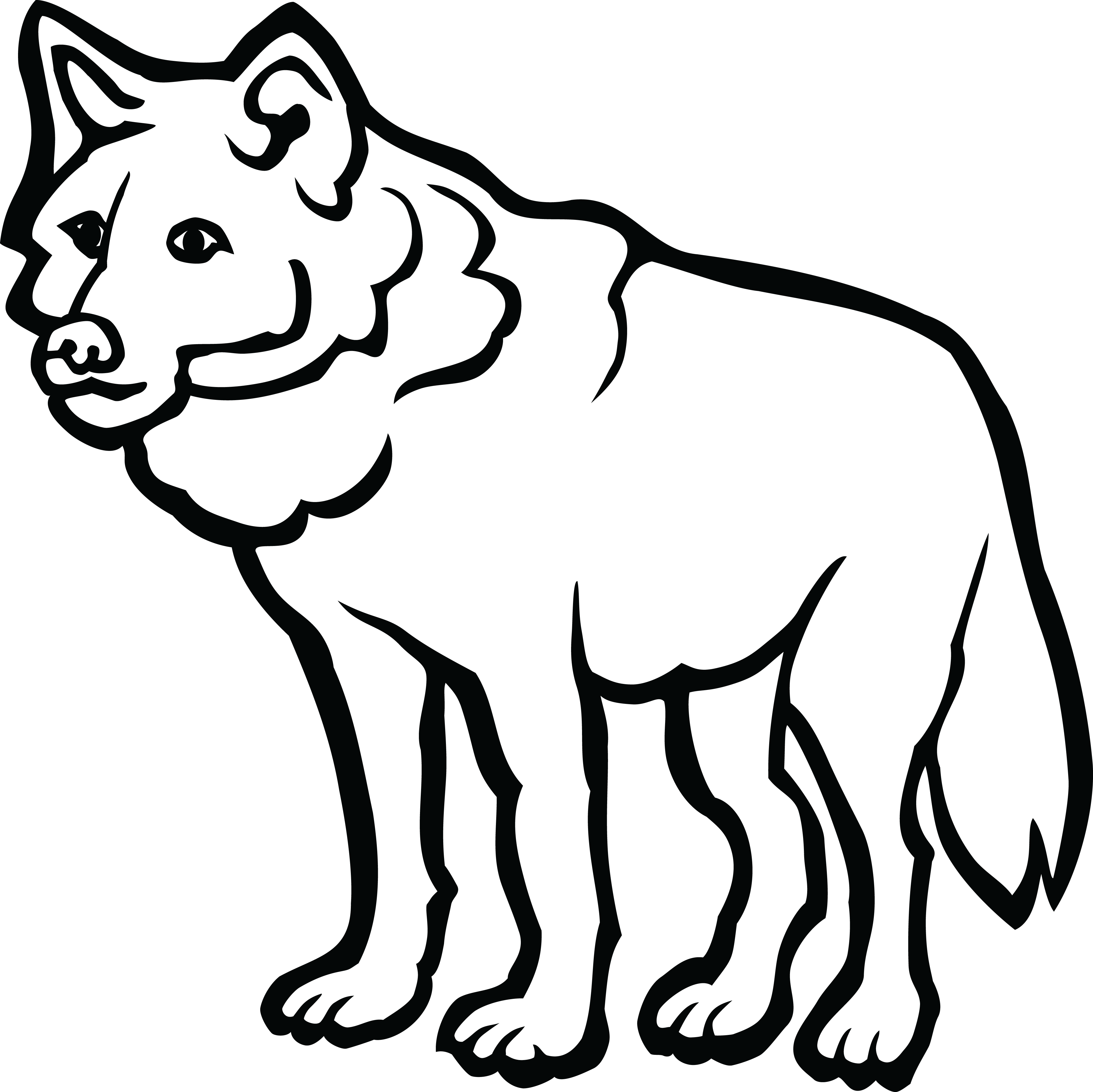 Free download best x. Wolf clipart black and white