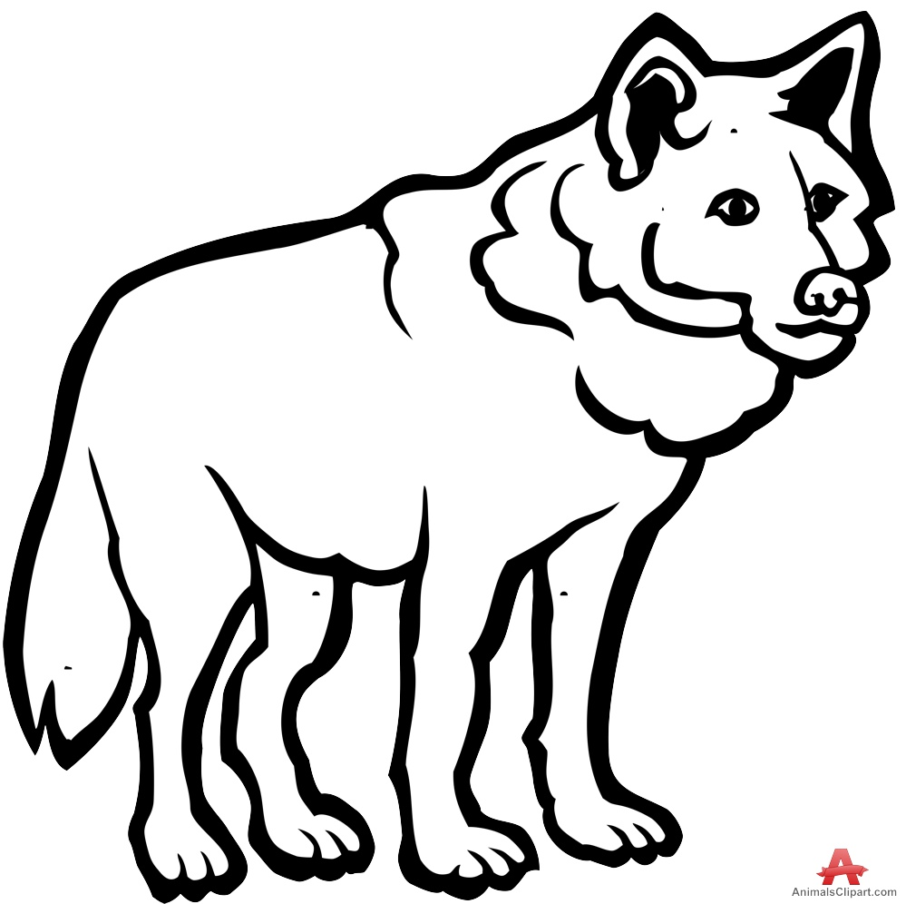 Wolves clipart black and white. Wolf free download best