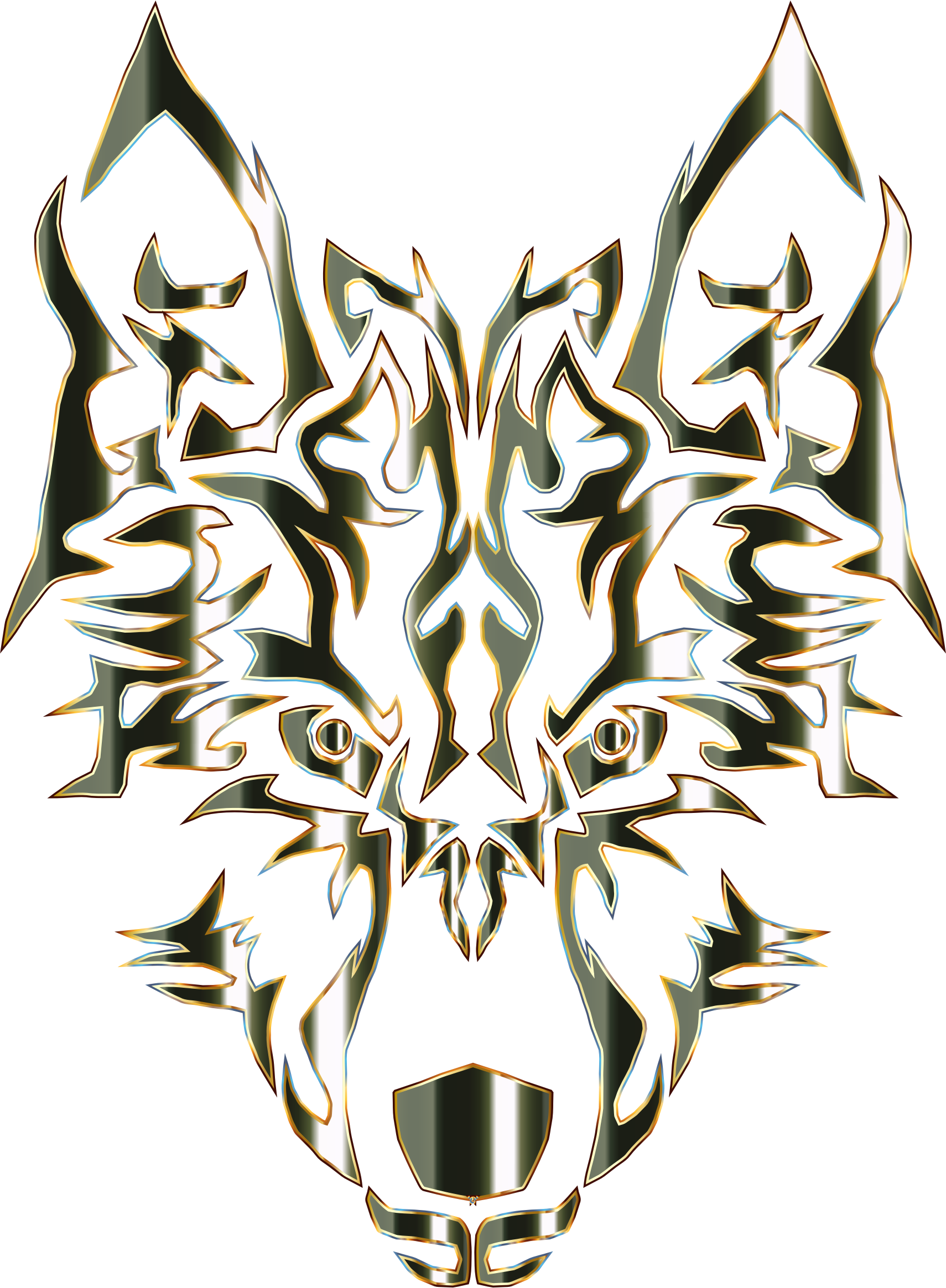 Tribal signs no background. Wolf clipart boho
