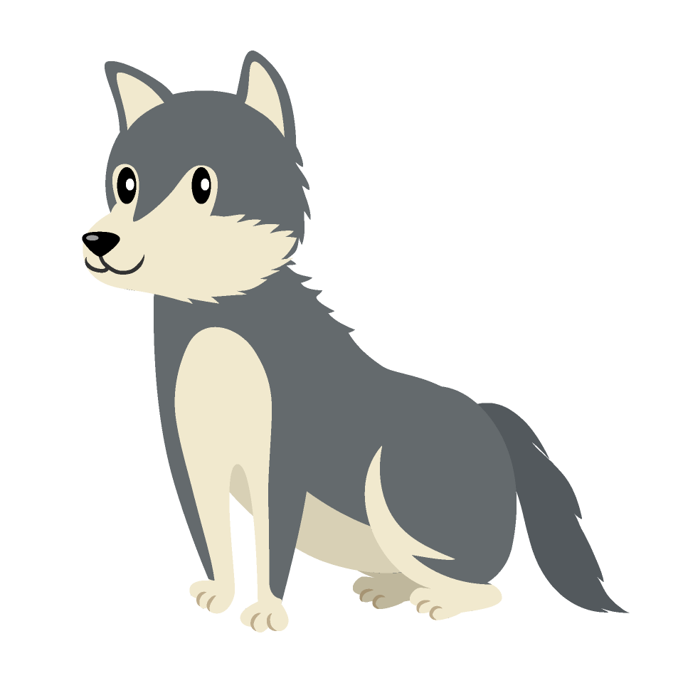 Sitting free picture illustoon. Wolf clipart carnivore