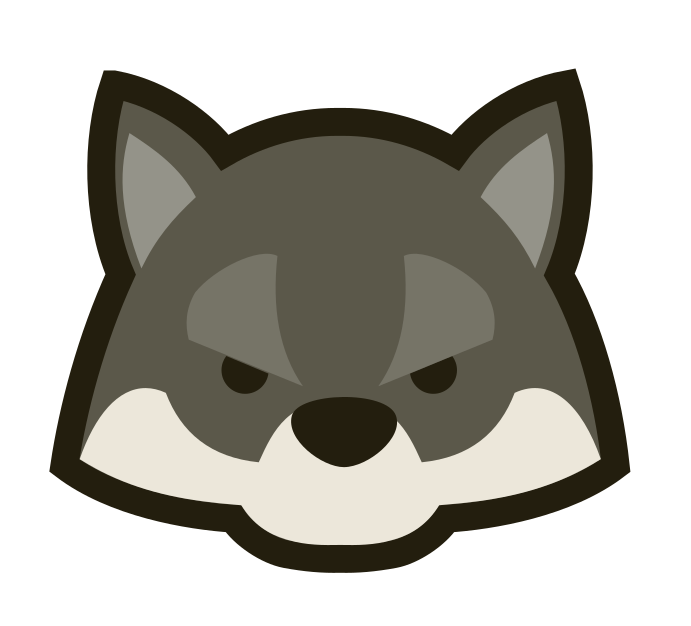 Wolf kawaii. Wolves clipart transparent free