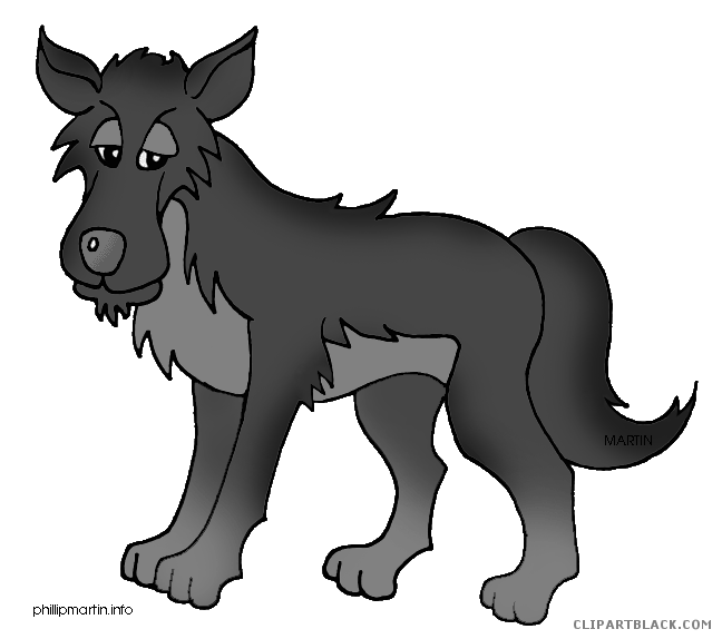 Wolf clipart cartoon. Clipartblack com animal free