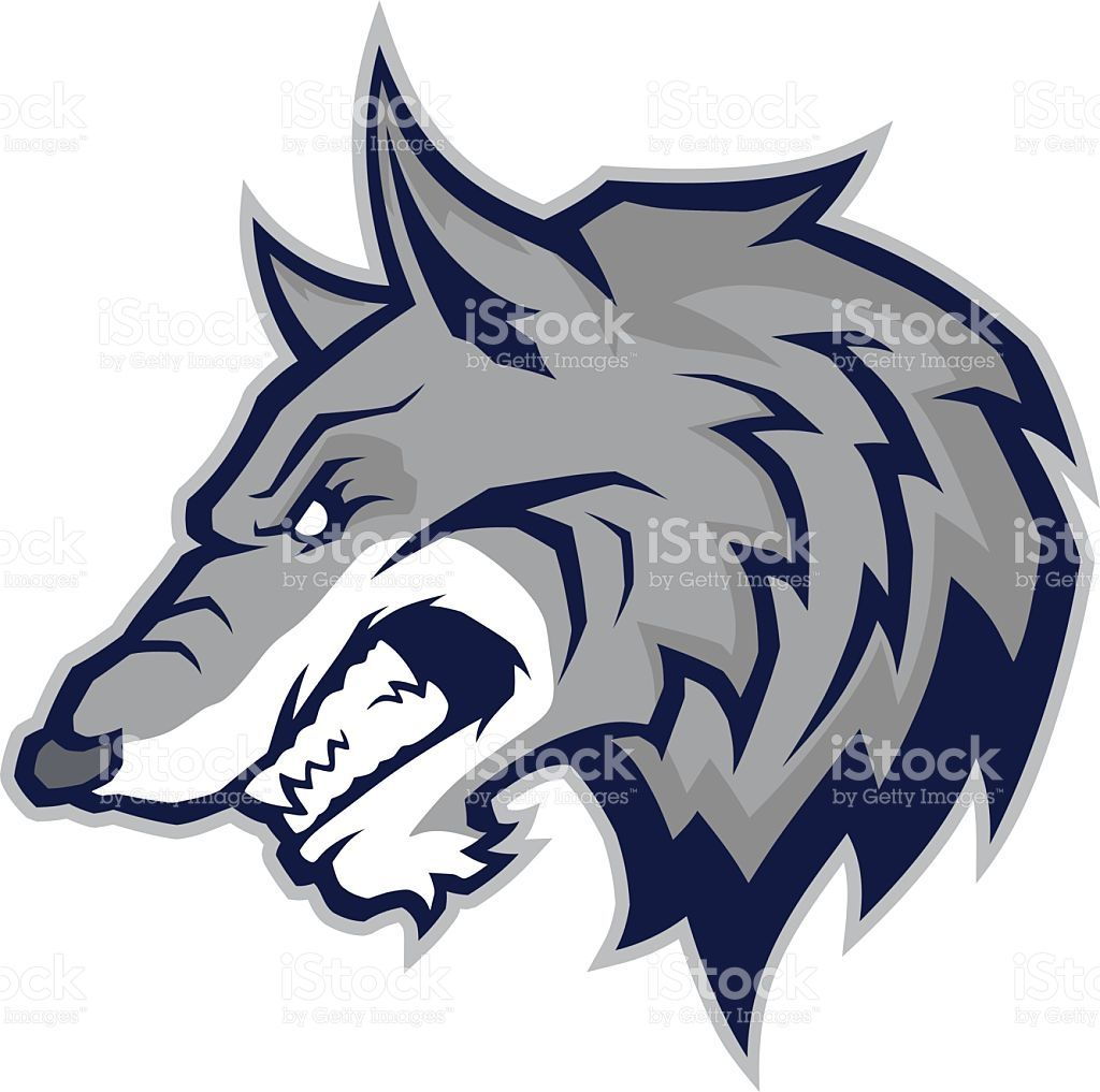 Wolf clipart color. Picture of a head