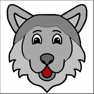 Wolves clipart color. Clip art cartoon animal