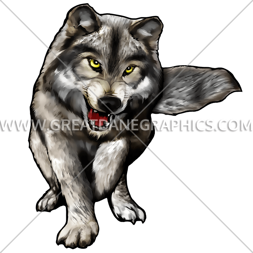 Wolf clipart color. Full body production ready