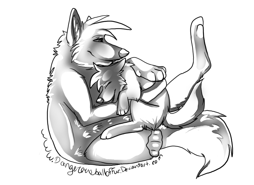 Furry wolf drawing at. Wolves clipart couple