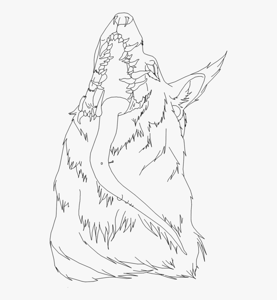 Wolves clipart couple. Lineart wolf free demon