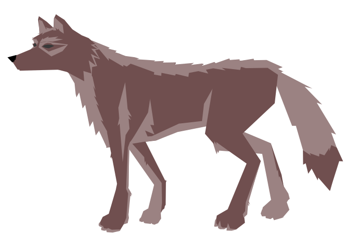 Drawn howling wolf public. Wolves clipart cute