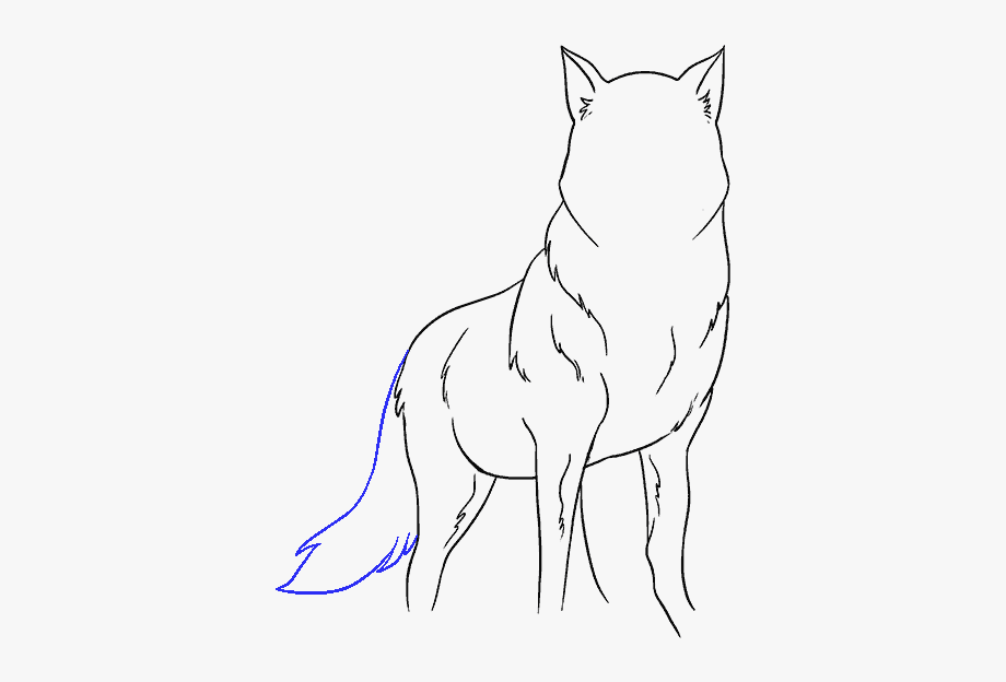 Simple drawing free . Wolf clipart easy