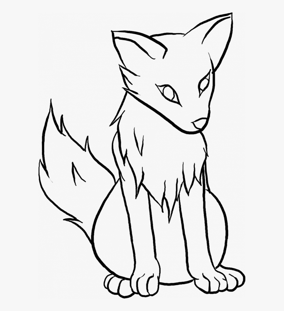 Wolf clipart easy. Gray drawing cute