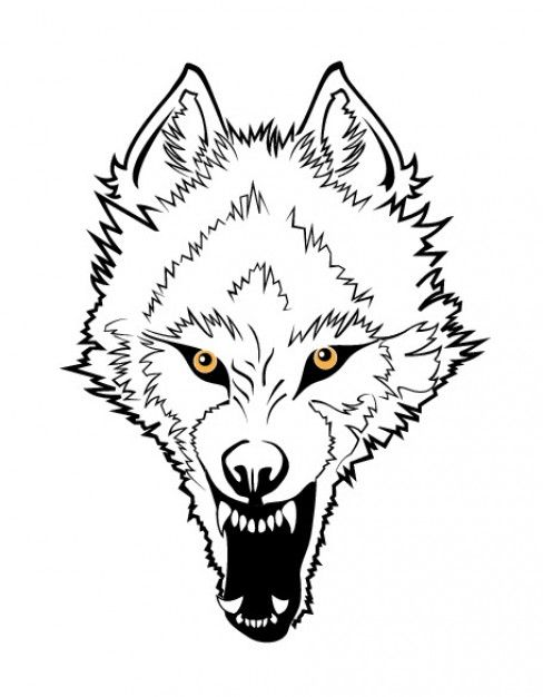 Wolf clipart face. Angry x graphics in