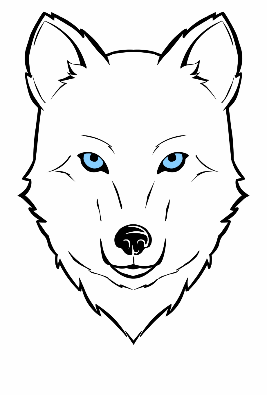 Wolf clipart face, Wolf face Transparent FREE for download ...