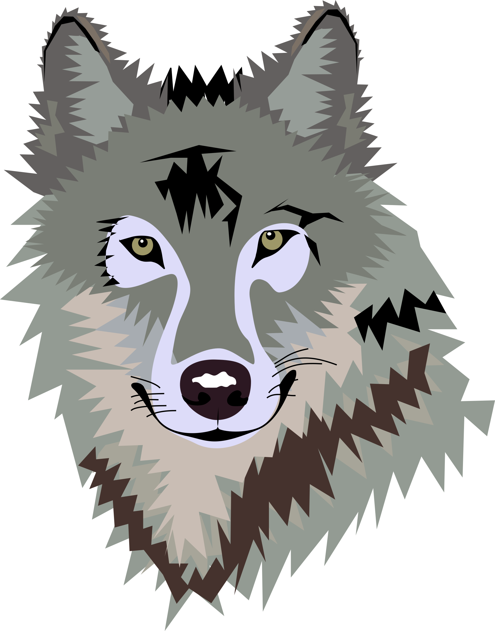 Wolf clipart face. Animals your spirit animal