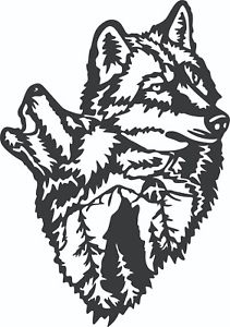 Wolf clipart file. Details about dxf for