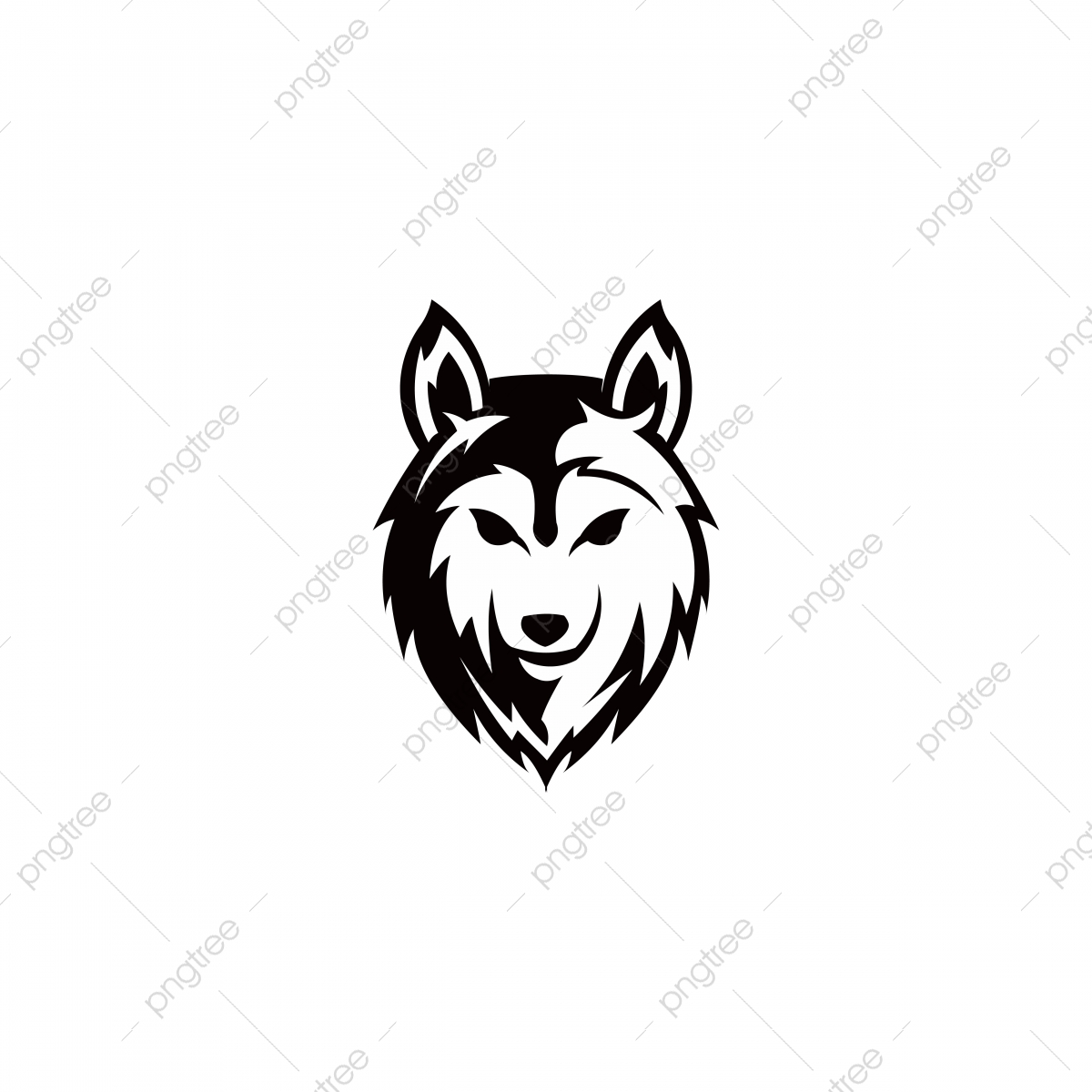 Wolf clipart file. Cartoon head