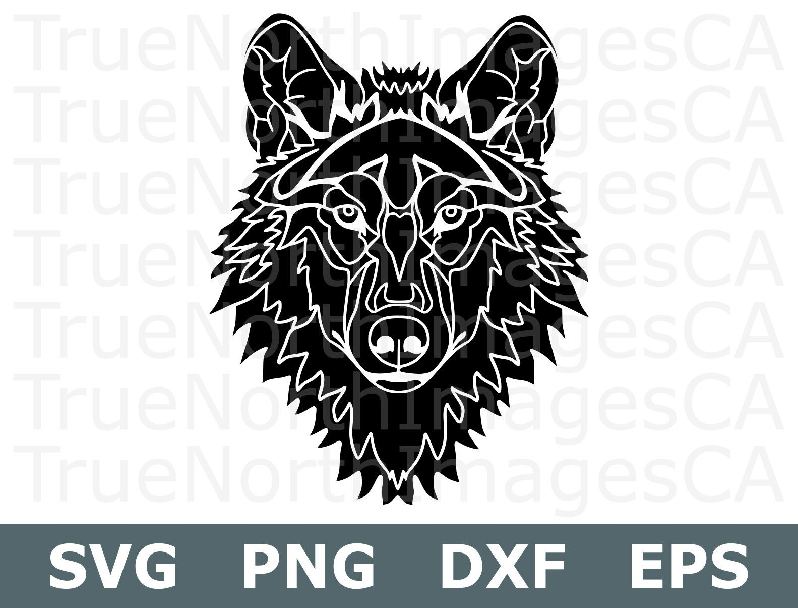 Svg silhouette cut . Wolf clipart file