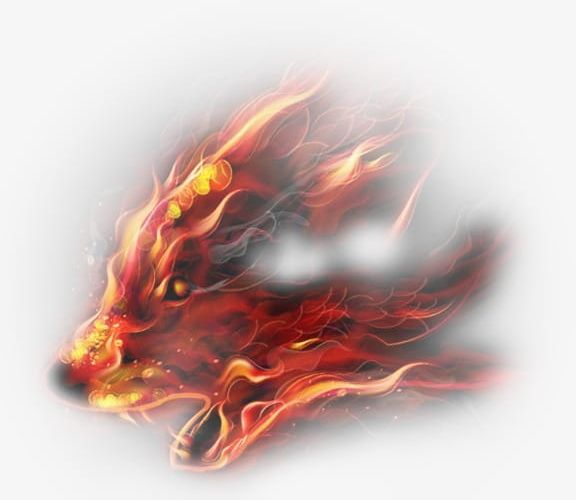 Creative png abstract animal. Wolf clipart fire