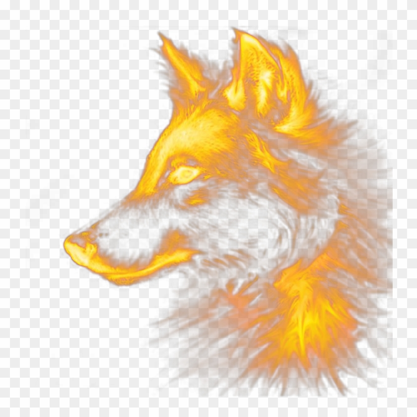 Fox dog red special. Wolf clipart fire