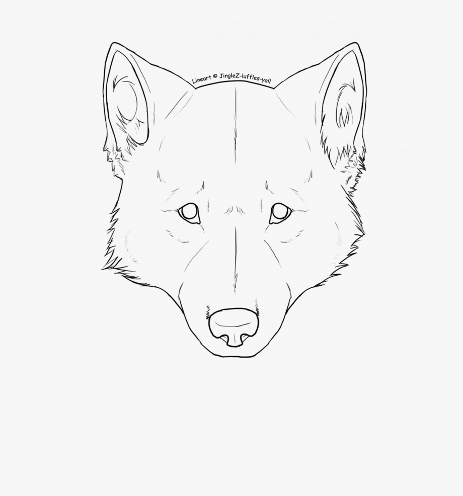 Face drawing free cliparts. Wolf clipart front