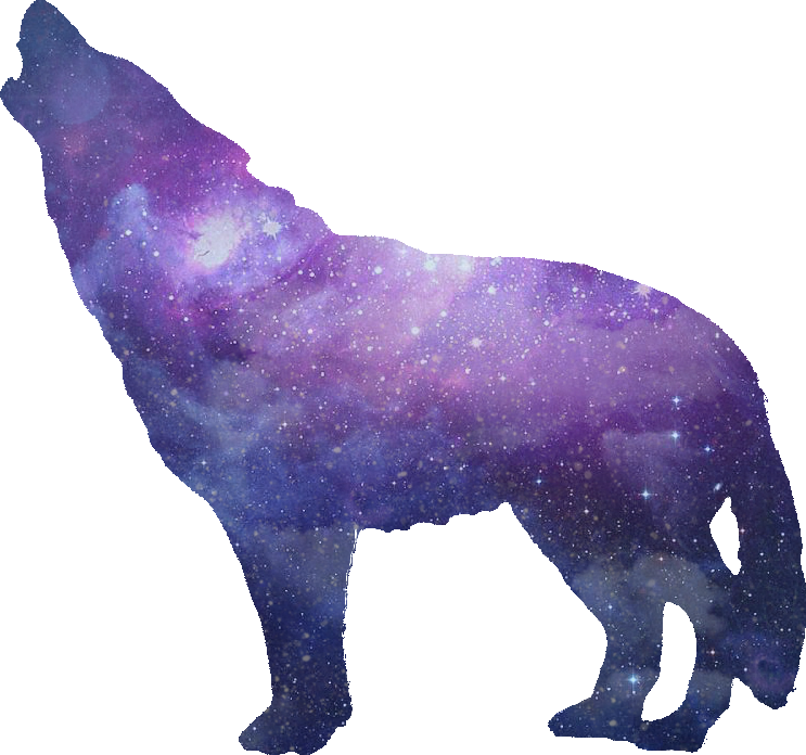 Ftestickers sticker by joe. Wolf clipart galaxy