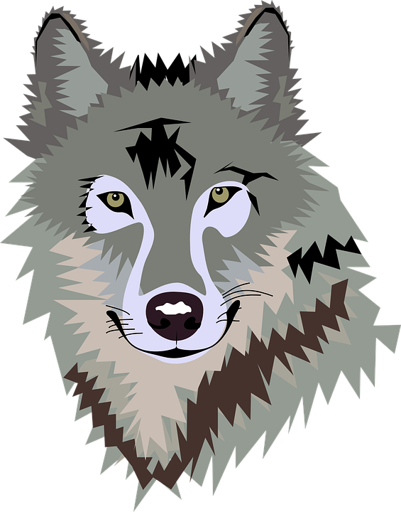 Free vector graphics on. Wolf clipart galaxy