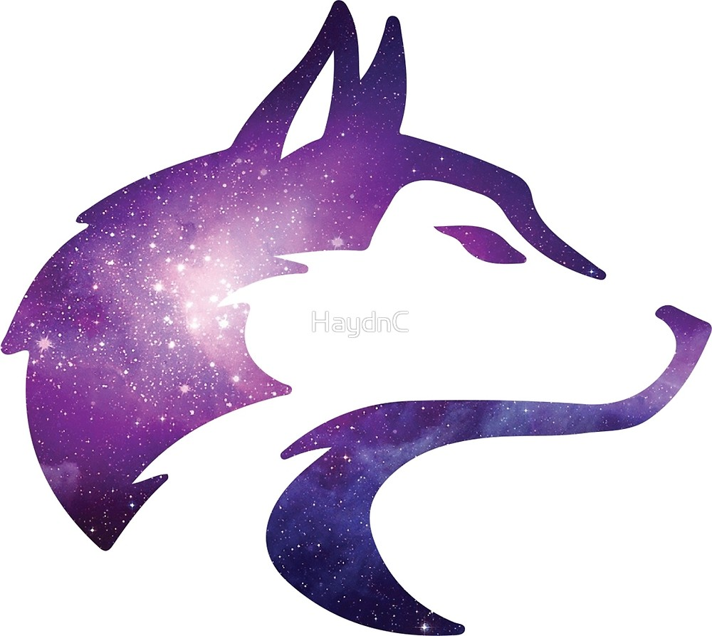 By haydnc redbubble . Wolf clipart galaxy