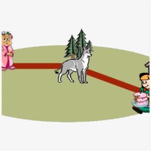 Wolf clipart grandma. Red riding hood transparent