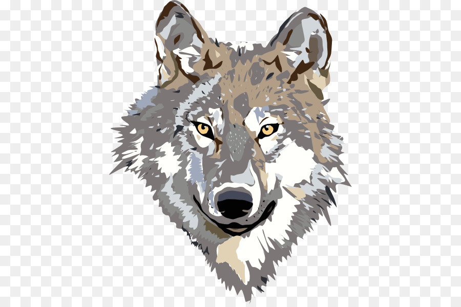 Wolf clipart gray wolf. Cartoon png download free
