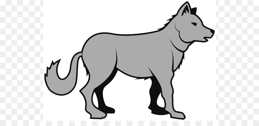 Station . Wolf clipart gray wolf