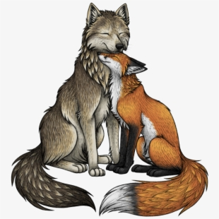 Wolf clipart grey fox. Wolves free